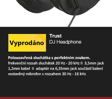 Trust DJ Headphone černá