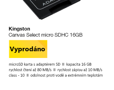 Kingston Canvas Select micro SDHC 16GB