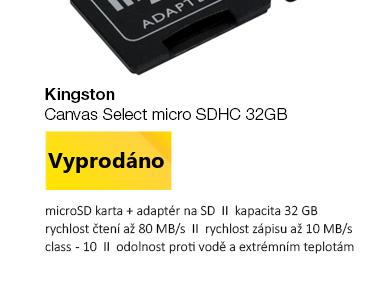 Kingston Canvas Select micro SDHC 32GB