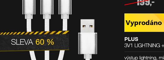 Plus kabel 3v1