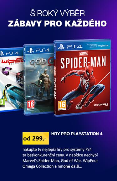 Hry z akční Playstation nabídky