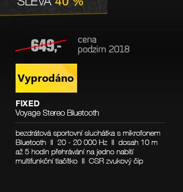 FIXED Voyage Stereo Bluetooth sluchátka černá