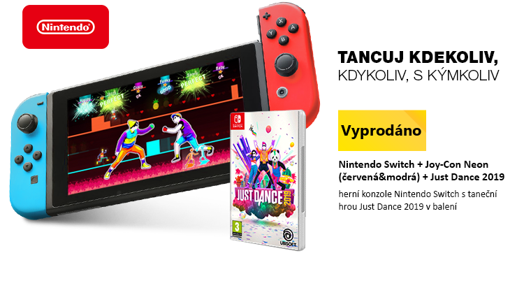 Nintendo Switch + Joy-Con Neon  + Just Dance 2019