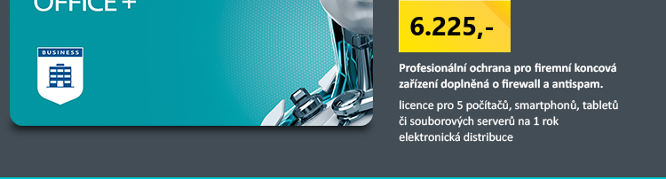 ESET Secure Office Plus, 5 stanic, 1 rok