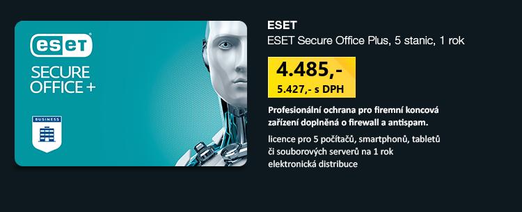 ESET Secure Office Plus, 5 stanic, 1 rok