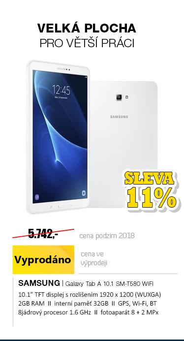 SAMSUNG Galaxy Tab A 10.1 SM-T580 WiFi bílá