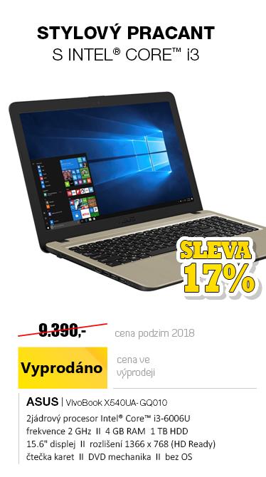ASUS VivoBook X540UA-GQ010 černá WiFi bílá