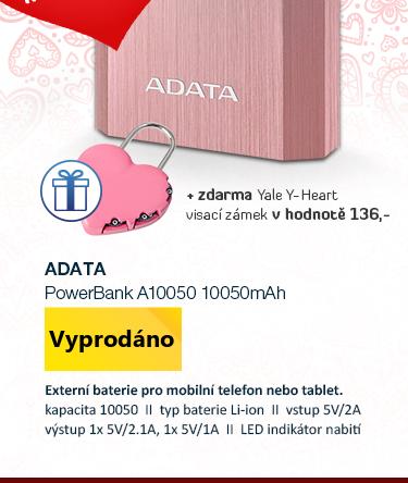 ADATA PowerBank A10050 10050mAh růžová