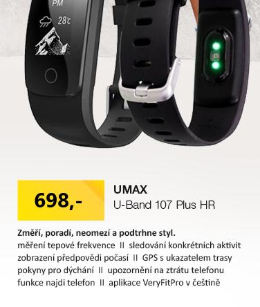 UMAX U-Band 107 Plus HR černá