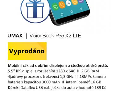 UMAX VisionBook P55 X2 LTE černá