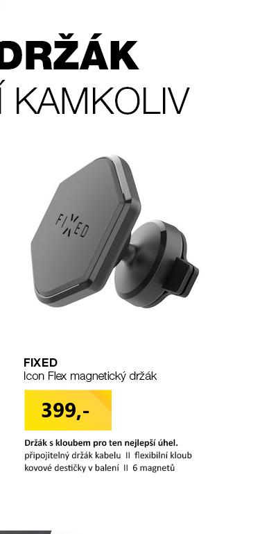 FIXED Icon Flex magnetický držák na palubní desku s kloubem a kabelovým organizérem