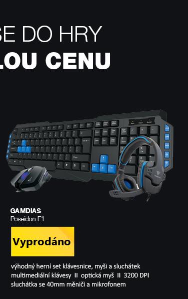 GAMDIAS Poseidon E1 černá