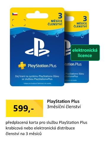 Sony Playstation Plus Card - 90 dní