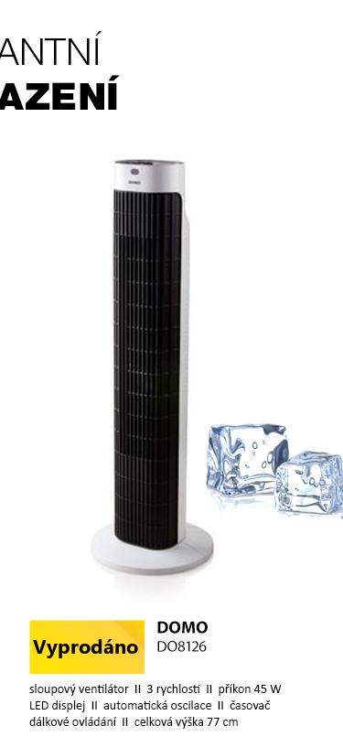 DOMO DO8126 sloupový ventilátor s dálkovým ovládáním