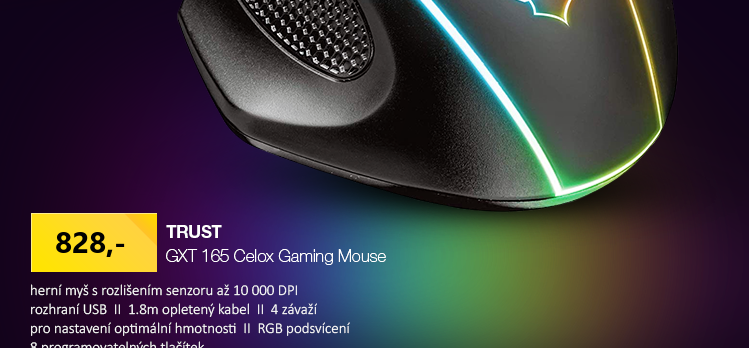 Trust GXT 165 Celox Gaming černá