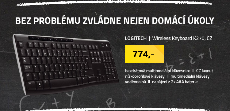 Logitech Wireless Keyboard K270 CZ