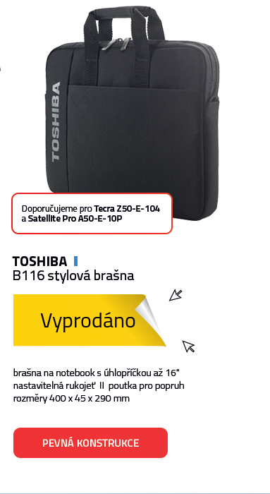Toshiba B116 stylová brašna