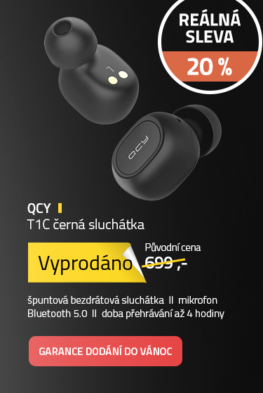 QCY T1C černá sluchátka
