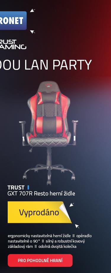 Trust GXT 707R Resto herní židle