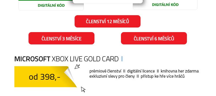 Microsoft Xbox Live Gold Card