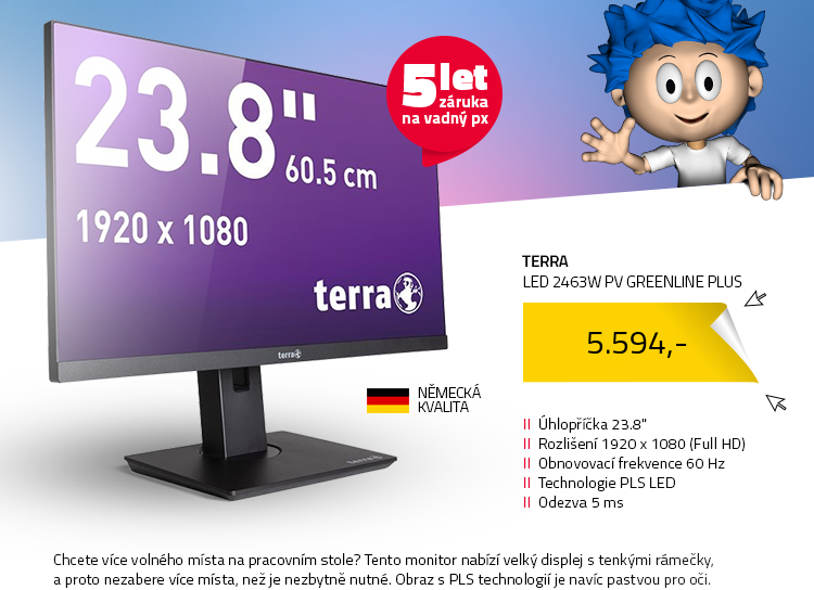 "23.8"" TERRA LED 2463W PV GREENLINE PLUS"