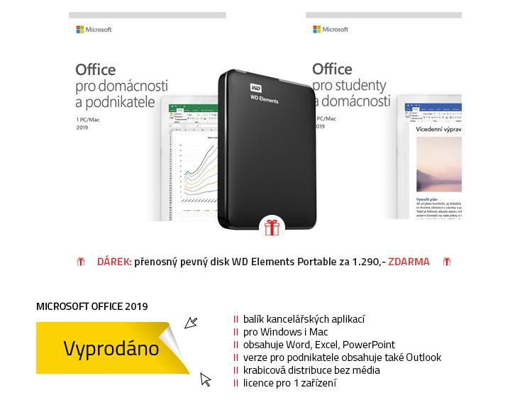 Microsoft Office 2019 pro domácnosti, studenty a podnikatele CZ