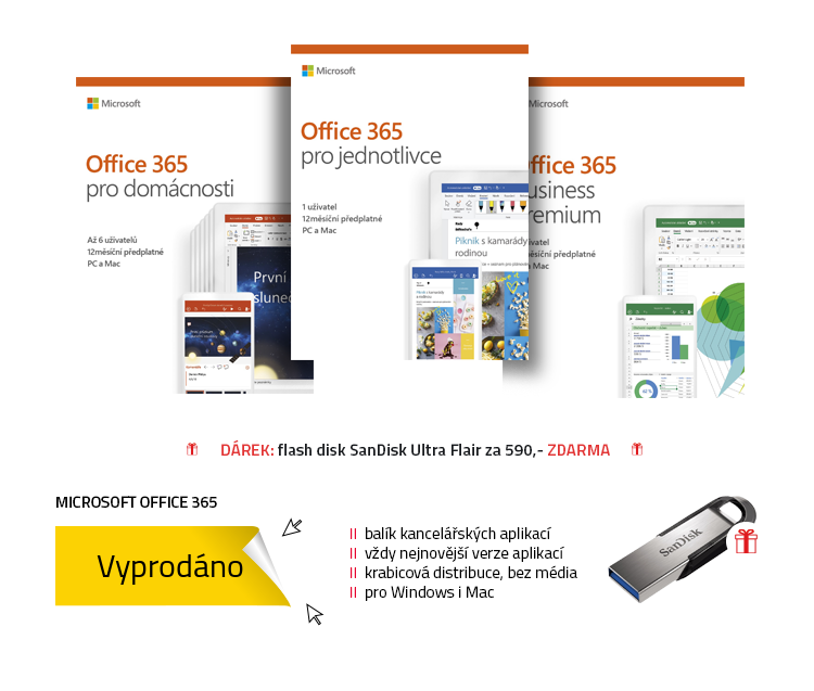 Microsoft Office 365 Business, pro jednotlivce a pro domácnosti
