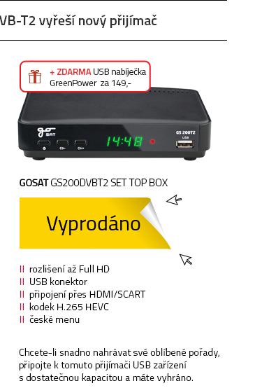 GoSAT GS200DVBT2 Set top box
