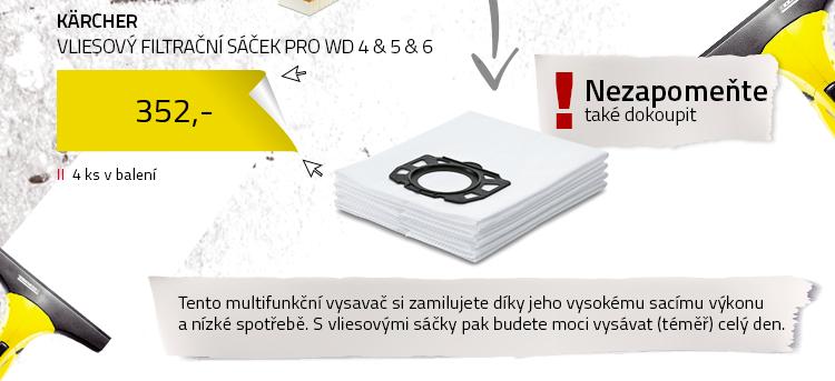 Kärcher Vliesový filtrační sáček pro WD 4 & 5 & 6