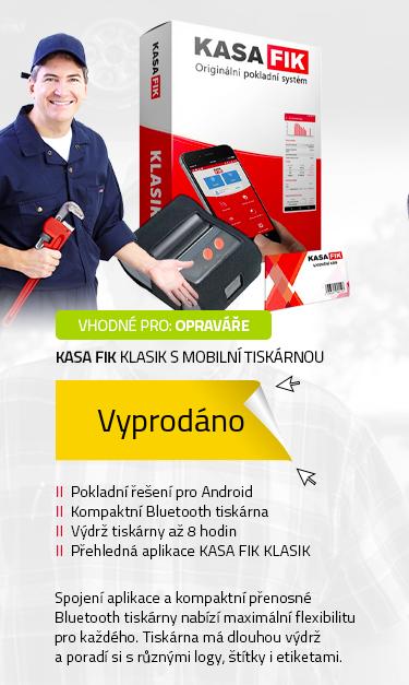 KASA FIK KLASIK s mobilní tiskárnou PTP-II