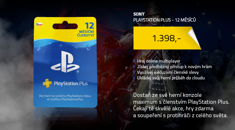 Sony Playstation Plus CZ klienti - 365 dní - fyzická licence