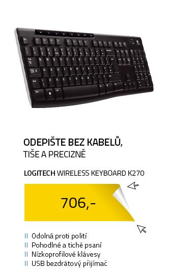 Logitech klávesnice Wireless Keyboard