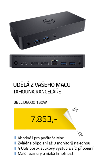 DELL D6000 130W DisplayLink vhodné i pro MAC
