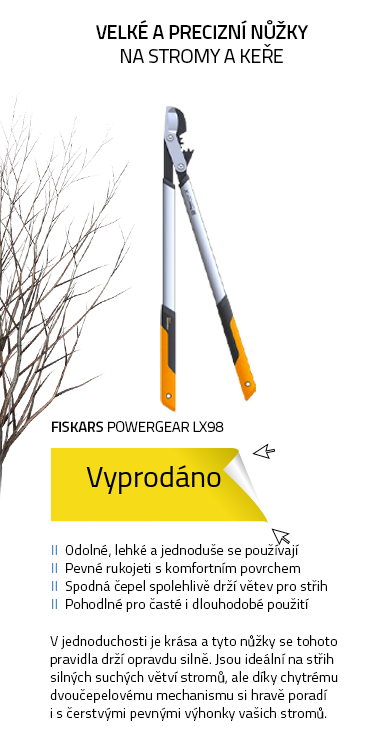 Fiskars PowerGear LX98 (L) Nůžky na silné větve