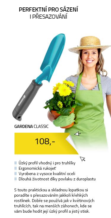 Gardena Classic 8951-20 Květinová lopatka úzká