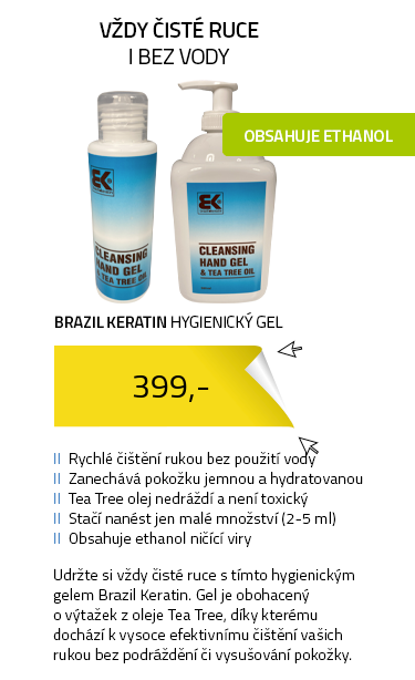 Brazil Keratin hygienický gel na ruce