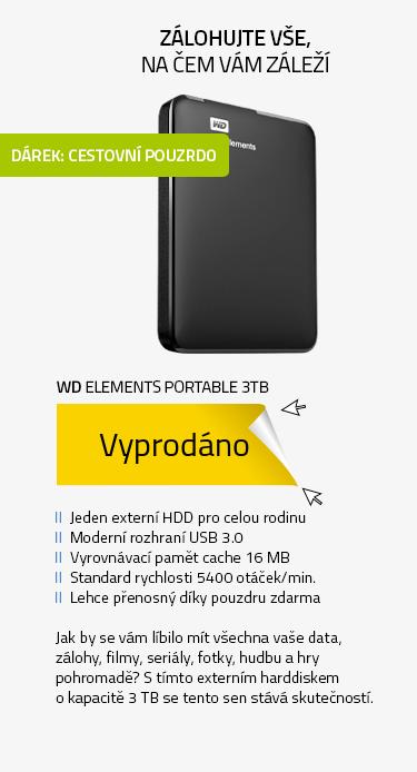 WD Elements Portable 3TB + POUZDRO