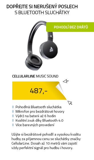 CellularLine MUSIC SOUND Bluetooth sluchátka