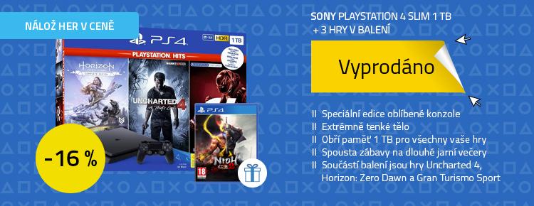 SONY PlayStation 4 - 1TB slim + GTS+ U4 + HZD