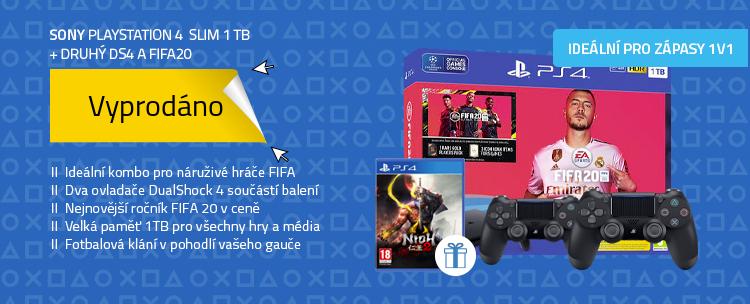 SONY PlayStation 4 - 1TB slim + druhý DS4 + FIFA20
