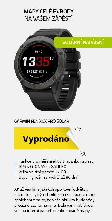 Garmin fenix6X PRO Solar TitaniumGray DLC (MAP|Music) černo-šedá