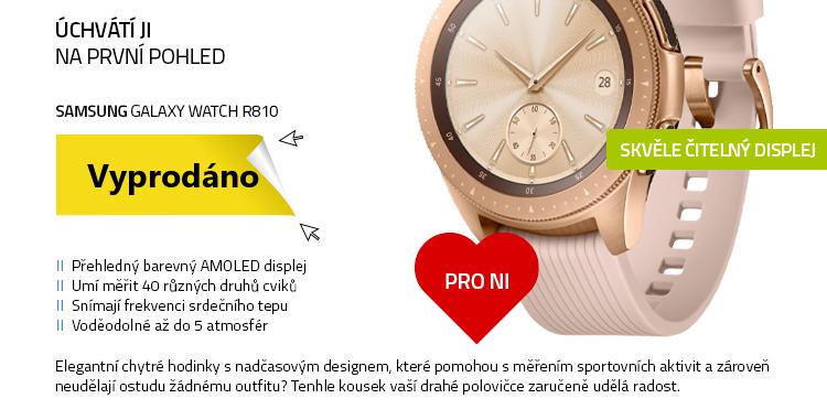 Chytré hodinky SAMSUNG Galaxy Watch R810 (42 mm) Rose Gold