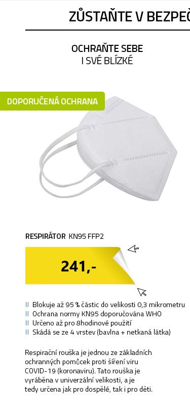 respirátor KN95 FFP2