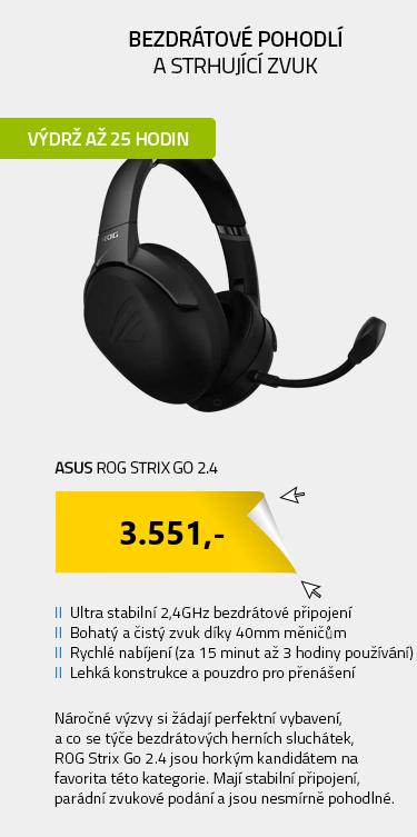 ASUS ROG Strix Go 2.4 černá
