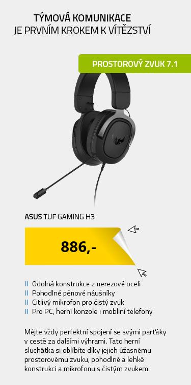 ASUS TUF Gaming H3 černá