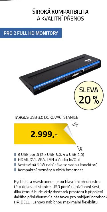 Targus USB 3.0 Dokovací Stanice