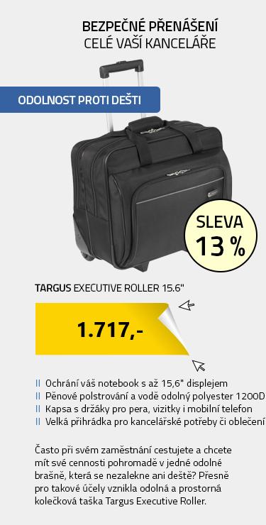 """Targus Executive Roller 15.6"""" černá"""