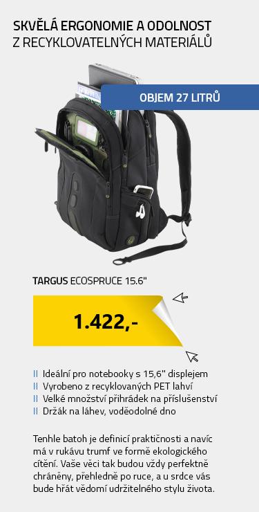 "Targus EcoSpruce 15.6"" černá"