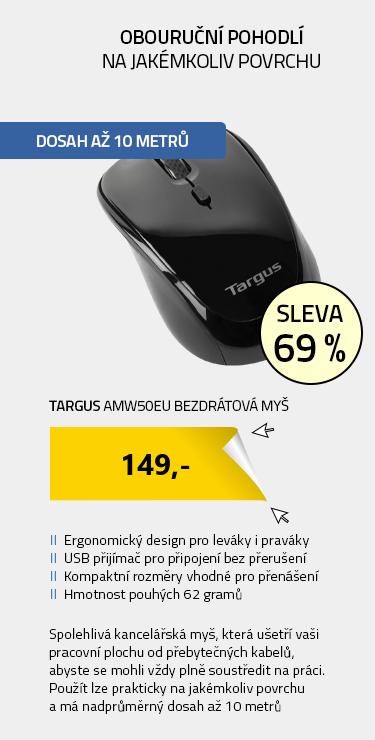 Targus AMW50EU bezdrátová myš černá