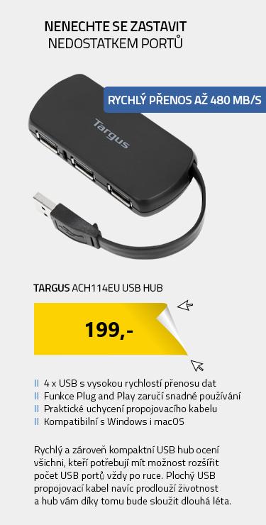 Targus ACH114EU USB Hub černá